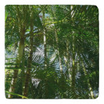 Forest of Palm Trees Tropical Green Trivet