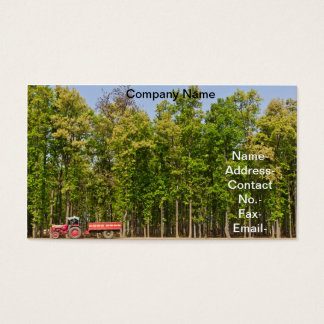 Forest of Shorea robusta & tractor in countryside Business Card
