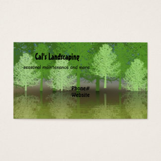 Forest of Trees Landscaping Design Business Card