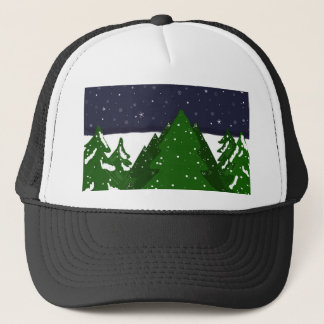 Forest of Trees on a Winter Night Trucker Hat