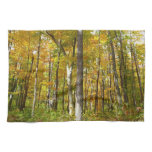 Forest of Yellow Leaves Autumn Nature Photography Hand Towel