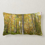 Forest of Yellow Leaves Autumn Nature Photography Lumbar Pillow