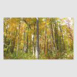 Forest of Yellow Leaves Autumn Nature Photography Rectangular Sticker