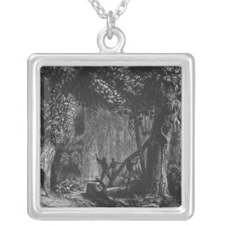 Forest Opening from 'Bresil, Columbie at Silver Plated Necklace