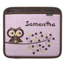Forest Owl Woodland Hoot Night iPad Sleeve