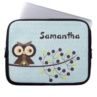 Forest Owl Woodland Hoot Night Protective Case Laptop Sleeve