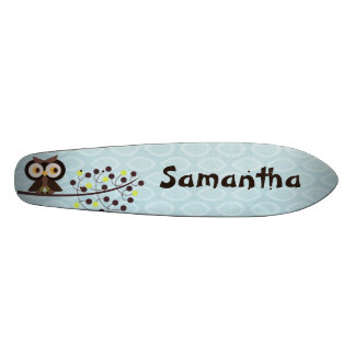 Forest Owl Woodland Hoot Old School Skateboard