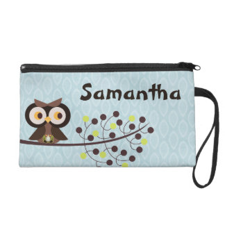 Forest Owl Woodland Hoot Wristlet Purse Wallet