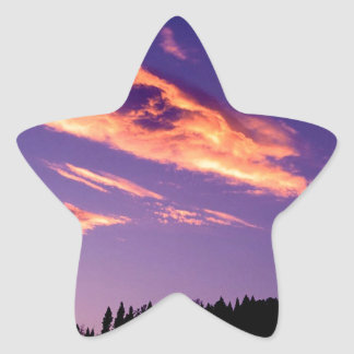 Forest Painting Sky Star Sticker
