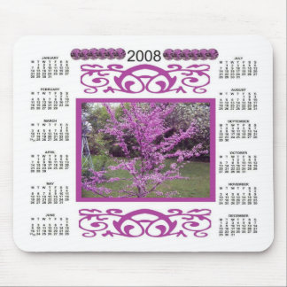 FOREST PANSY REDBUD 2008 CALENDAR MOUSE PAD