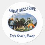 Forest Park animal Etiquetas Redondas