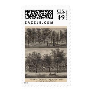 ForeSt. Park, Ottawa, Kansas Postage Stamp