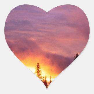 Forest Part Skies San Isabel Heart Sticker