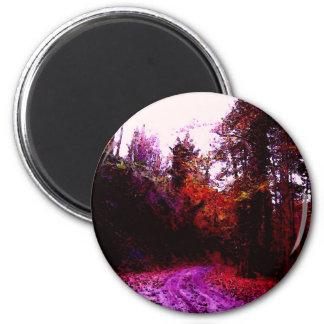 Forest Path 2 Inch Round Magnet