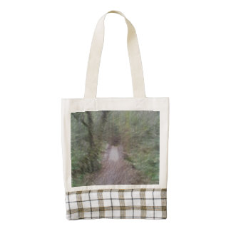 Forest Path art Zazzle HEART Tote Bag