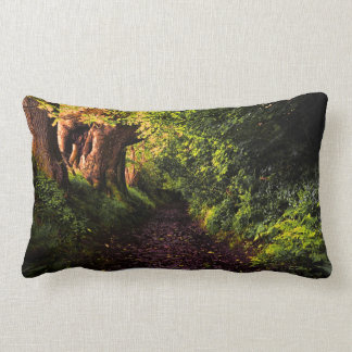 Forest Path by Alexandra Cook Lumbar Pillow