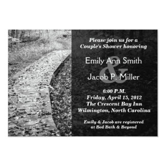 Forest Path Couple's Shower Invitations