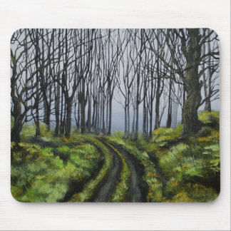 Forest Path Design Mouse Pad