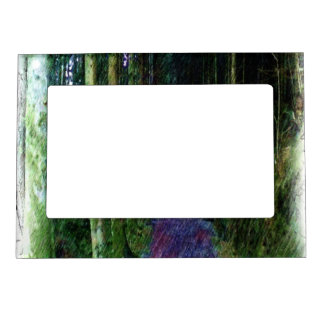 Forest Path Drawing Photo Frame Magnet