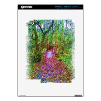 Forest Path Drawing Skin For iPad 3