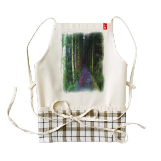 Forest Path Drawing Zazzle HEART Apron