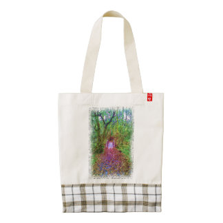 Forest Path Drawing Zazzle HEART Tote Bag