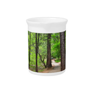 Forest Path Drink Pitcher