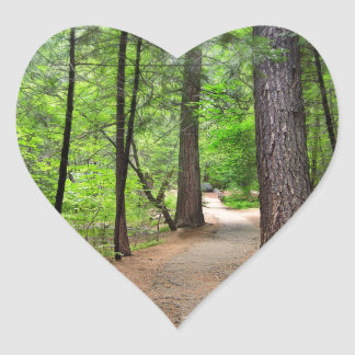 Forest Path Heart Sticker