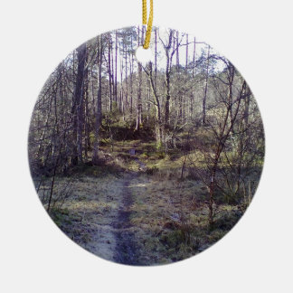 Forest Path in the Forest Christmas Tree Ornament