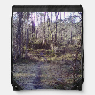 Forest Path in the Forrest stor.jpg Drawstring Backpacks