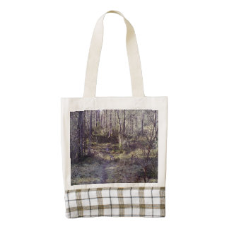 Forest Path in the Forrest Zazzle HEART Tote Bag