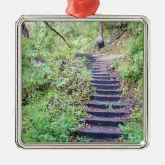 Forest path metal ornament