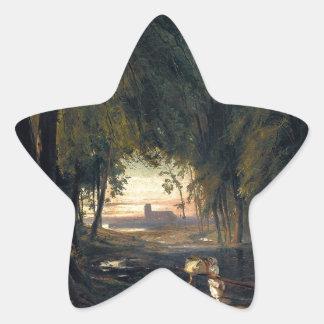 Forest path near Spandau 1835 by Carl Blechen Sticker