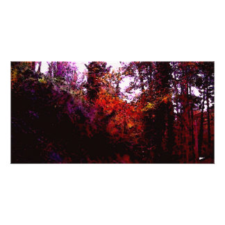 Forest Path Photo Card Template