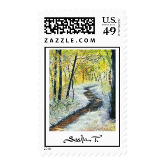 FOREST PATH - postage stamp