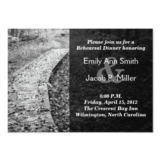 Forest Path Rehearsal Dinner Invitations