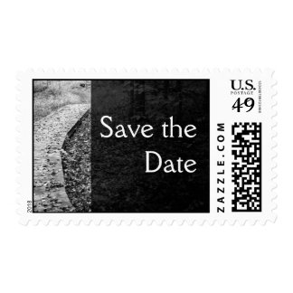 Forest Path Save the Date Postage