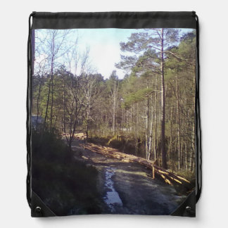Forest Path stord.jpg Drawstring Backpack