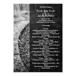 Forest Path Wedding Program