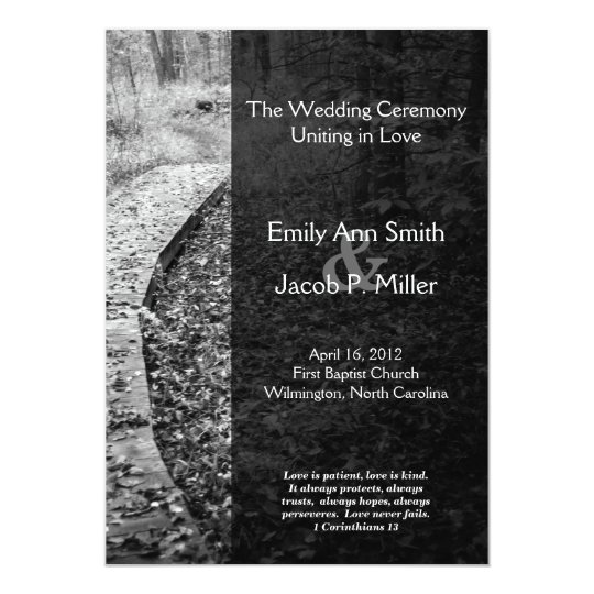 Forest Path Wedding Program