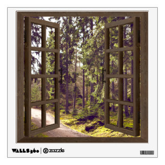 Forest Path Window Frame Wall Graphic