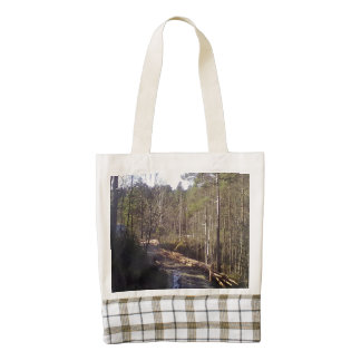 Forest Path Zazzle HEART Tote Bag