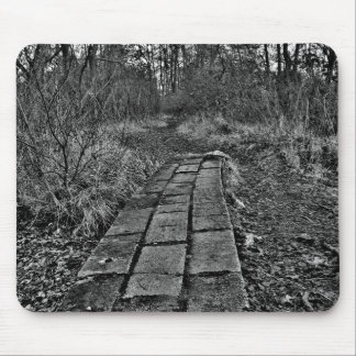 Forest pathway mouse pad