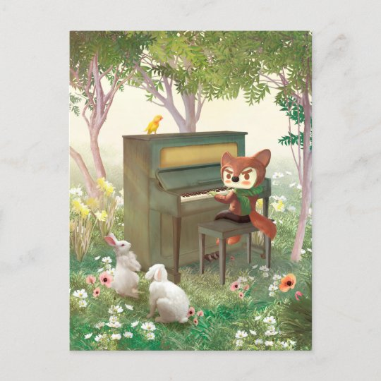 Forest Piano Announcement Postcard
