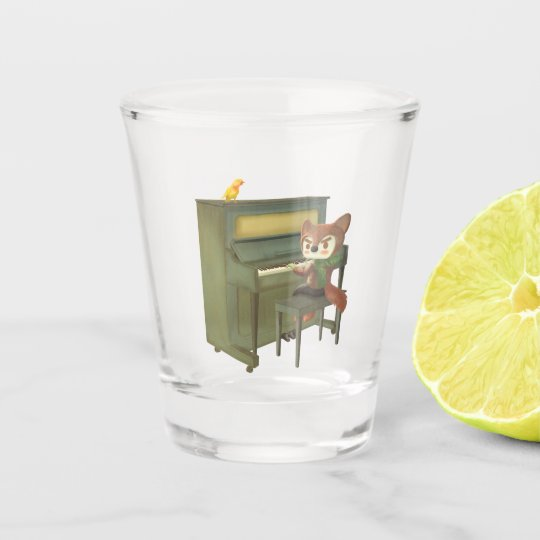 Forest Piano Shot Glass