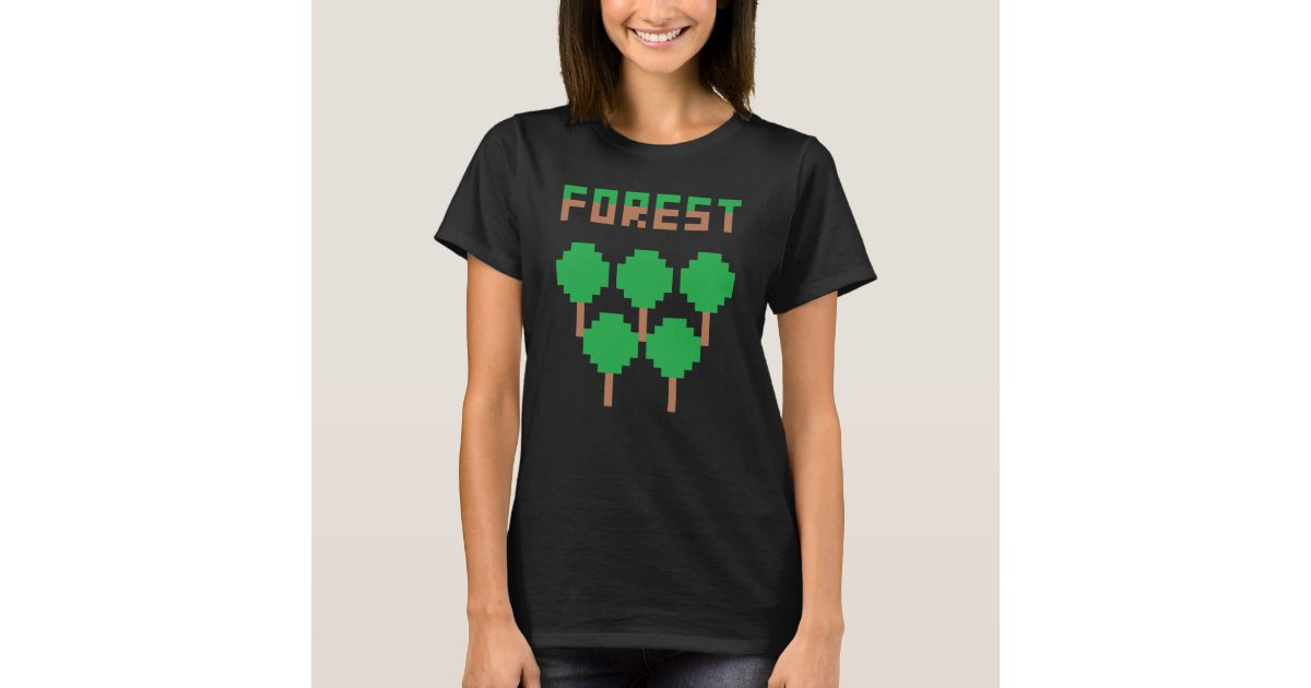 Mix Forest Pixel Art Womens T Shirt