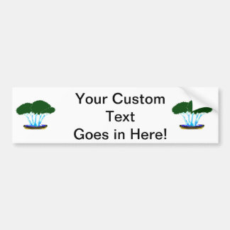 forest planting bonsai graphic green invert bumper sticker
