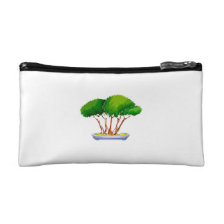 forest planting bonsai graphic green.png makeup bag