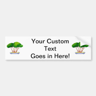 forest planting bonsai graphic green.png car bumper sticker