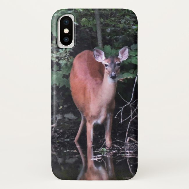 Forest Pond and White Tailed Deer iPhone X Case